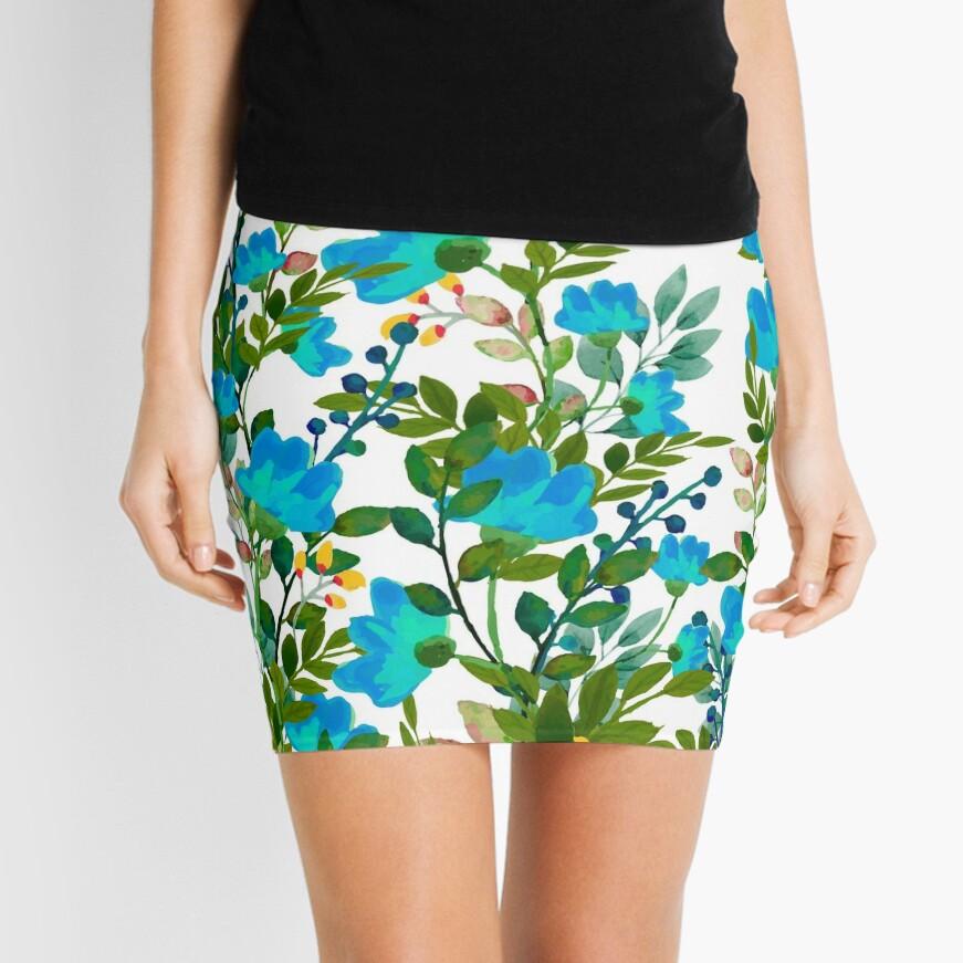 Blue #redbubble #decor #buyart Mini Skirt