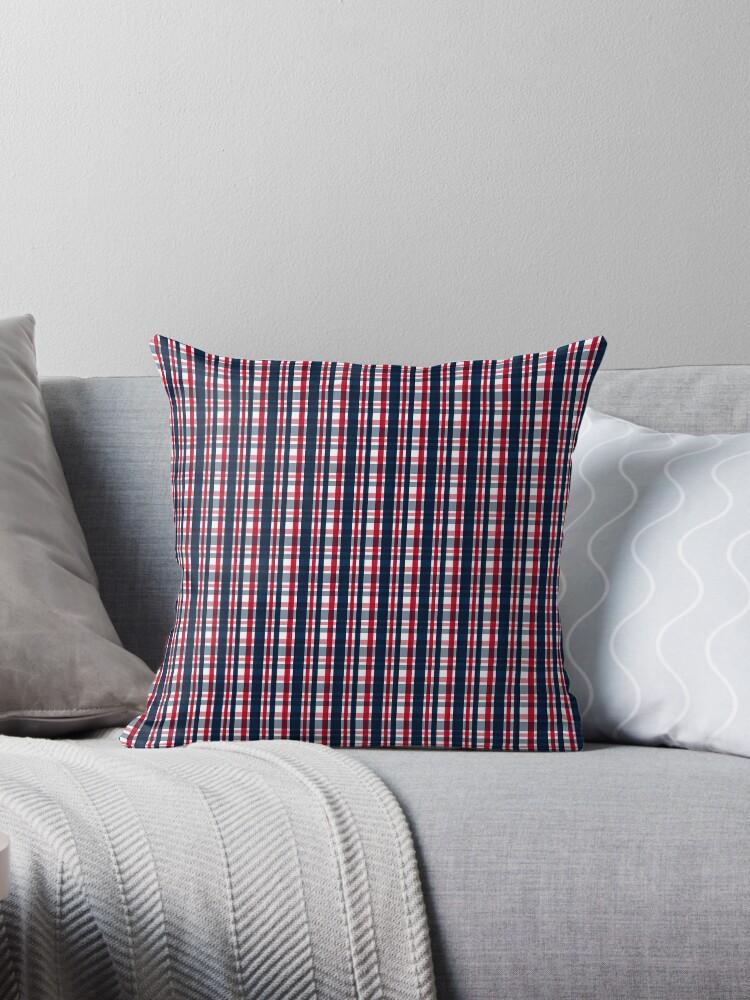 Peachy Washington Sports Fan Blue White Red Plaid Throw Pillow By Shelley Neff Ibusinesslaw Wood Chair Design Ideas Ibusinesslaworg