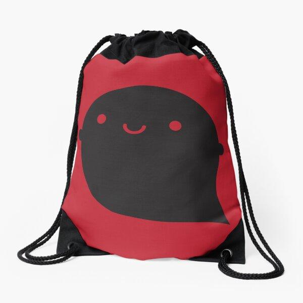 Evil Twin Black Ghost - Kawaii Halloween Drawstring Bag