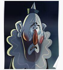 Gravity Falls Crying Clown Portrait Replica Poster