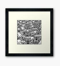 Animal Crowd Framed Print