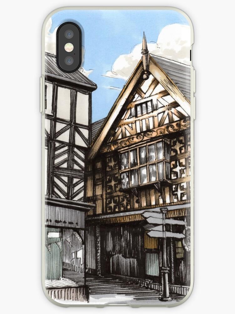 Grope Lane, Shrewsbury - Ink and Promarker by Gee Massam
