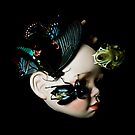 Porcelain Doll Head, SkuIl and Insects by Shelly Still