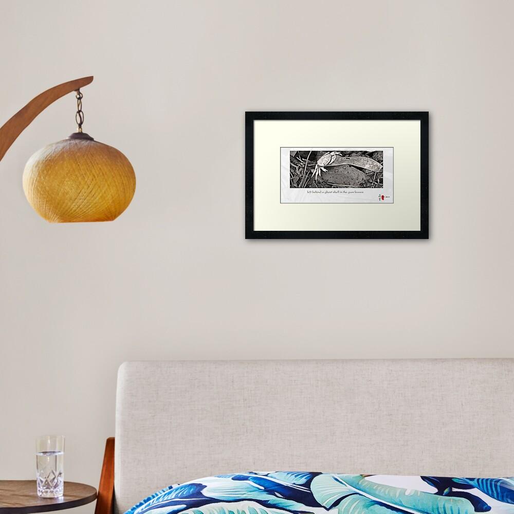 Ghost Shell Framed Art Print