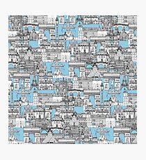Paris toile cornflower blue Photographic Print