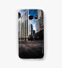 Melbourne Docklands light reflections Samsung Galaxy Case/Skin
