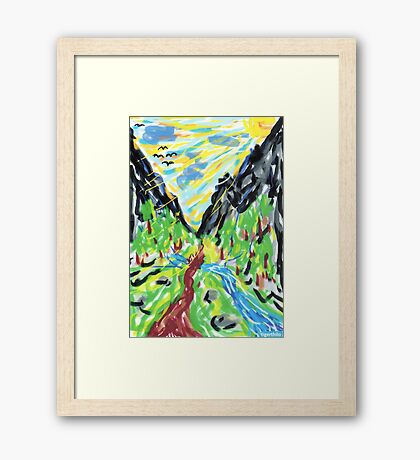 2311 - Out of the Valley through the Mountains Framed Print