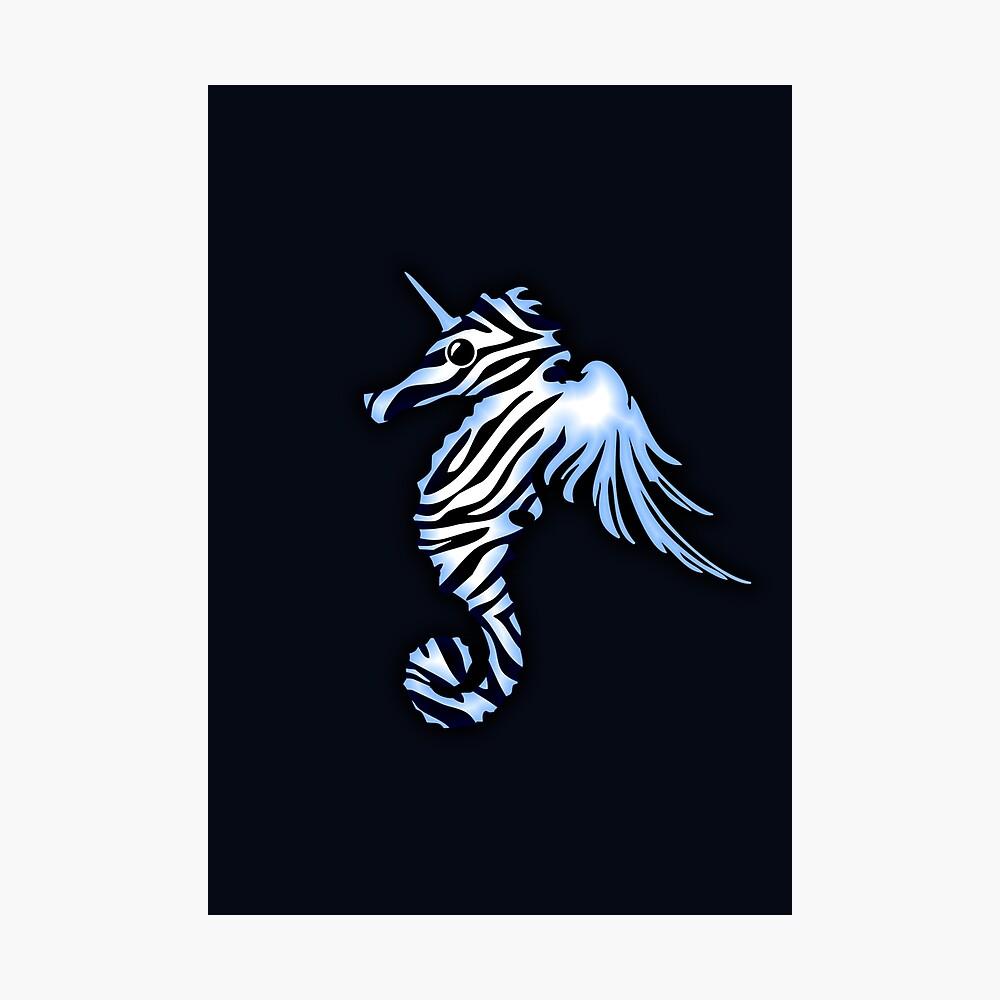 Pegasus Unicorn Zebra Seahorse Photographic Print