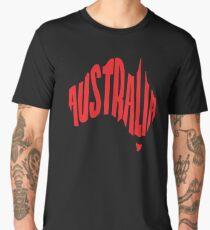 Australia in the shape of Australia Men's Premium T-Shirt