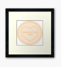 Colors of The Wind - Princess Heart Framed Print