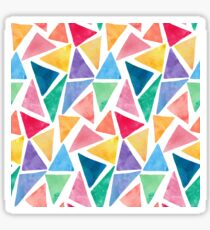 Triangle geometric watercolour design Sticker