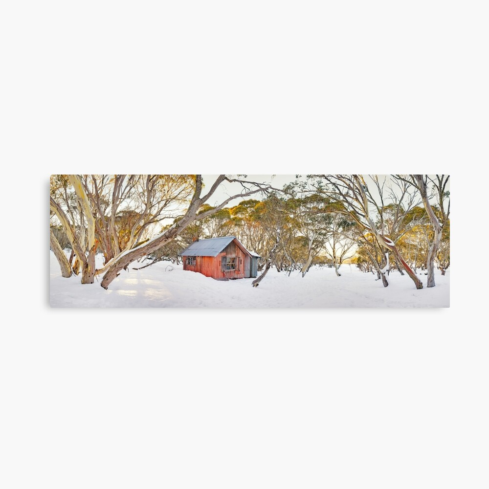 Winter at JB Plain Hut, Mt Hotham, Victoria, Australia Canvas Print