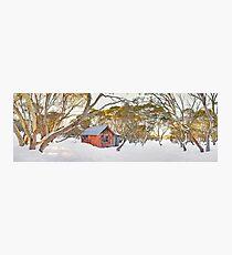 Winter at JB Plain Hut, Mt Hotham, Victoria, Australia Photographic Print