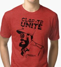 ClapTrap Fidel Castro - Borderlands (New Robot Revolution) Tri-blend T-Shirt