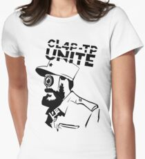 ClapTrap Fidel Castro - Borderlands (New Robot Revolution) Women's Fitted T-Shirt