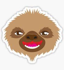 goofy sloth face Sticker