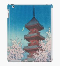 """Evening Glow in Spring, Toshogu Shrine, Ueno"" by Hasui Kawase iPad Case/Skin"