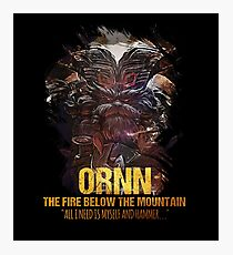 League of Legends ORNN - The Fire Below The Mountain Photographic Print