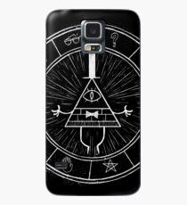 Gravity Falls Bill Cipher - White on Black Case/Skin for Samsung Galaxy