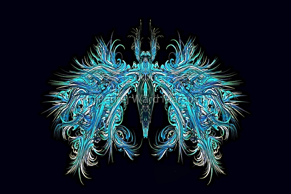 Fantasy Insect, Teal Moth by Penny Ward Marcus