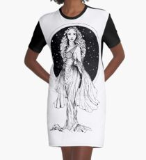 Non the usual Black & White Graphic T-Shirt Dress