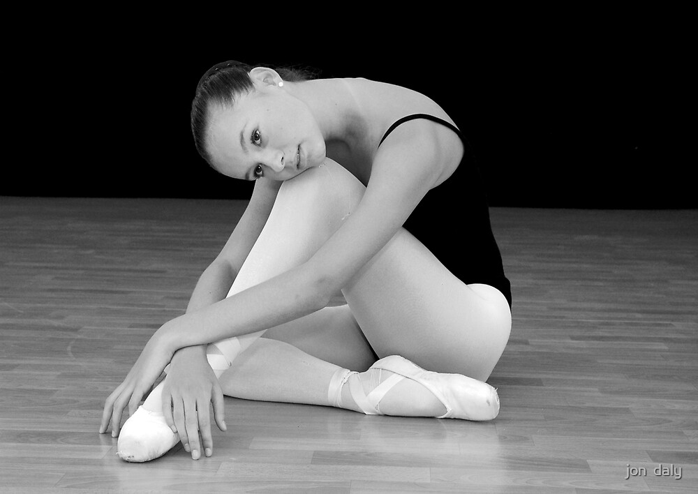 ballerina rests by jon  daly