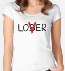 LOVER (the losers club) Women's Fitted Scoop T-Shirt