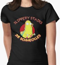 Slippery Stairs Women's Fitted T-Shirt