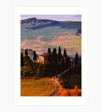 Landscapes of Italy, Tuscany Art Print