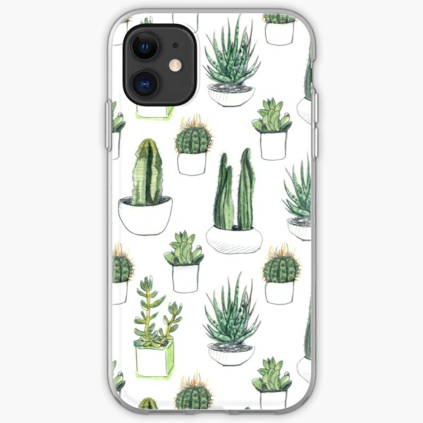 Watercolour cacti & succulents iPhone Soft Case