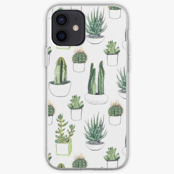 Watercolour cacti & succulents iPhone Soft Case