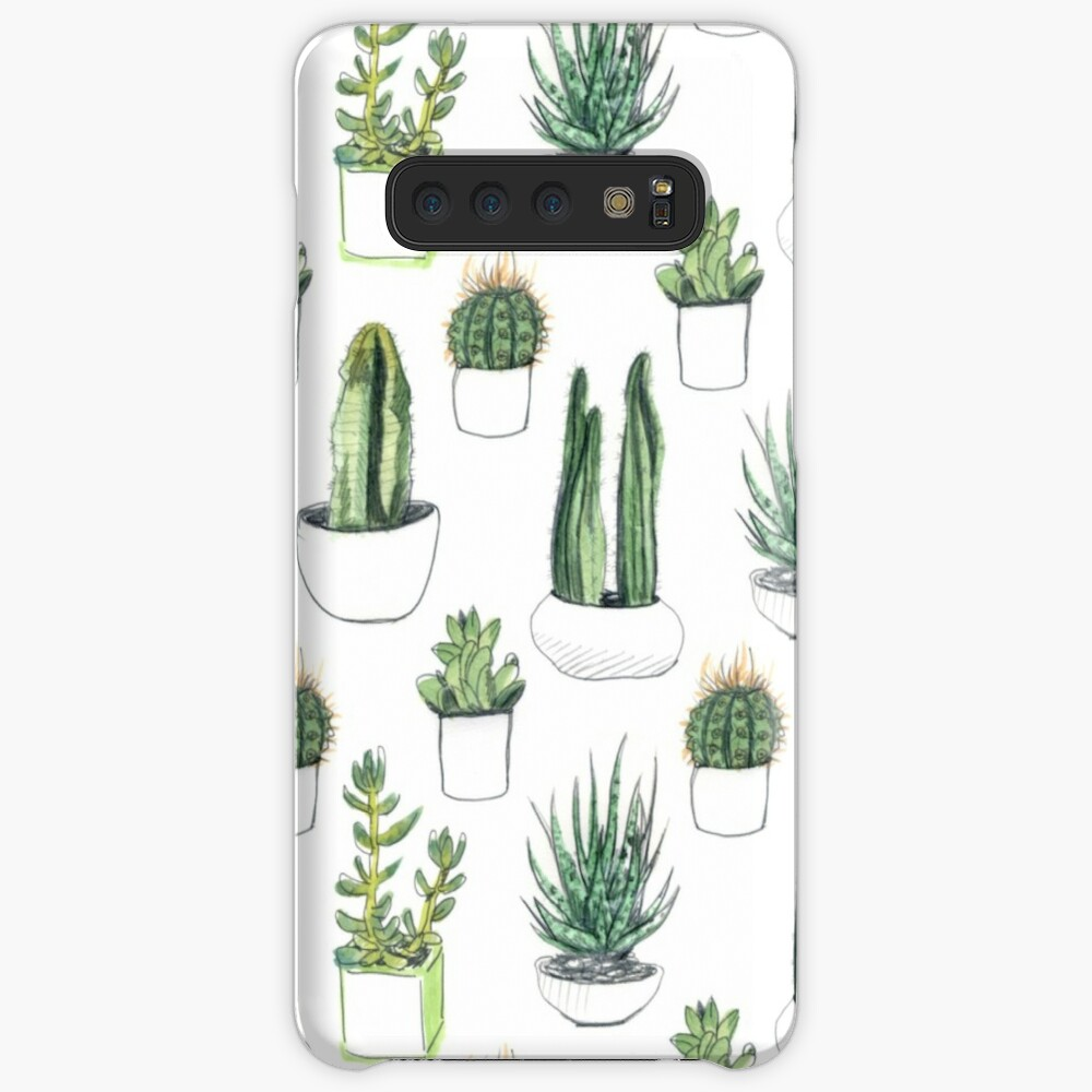 Watercolour cacti & succulents Case & Skin for Samsung Galaxy