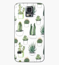 Watercolour cacti & succulents Case/Skin for Samsung Galaxy