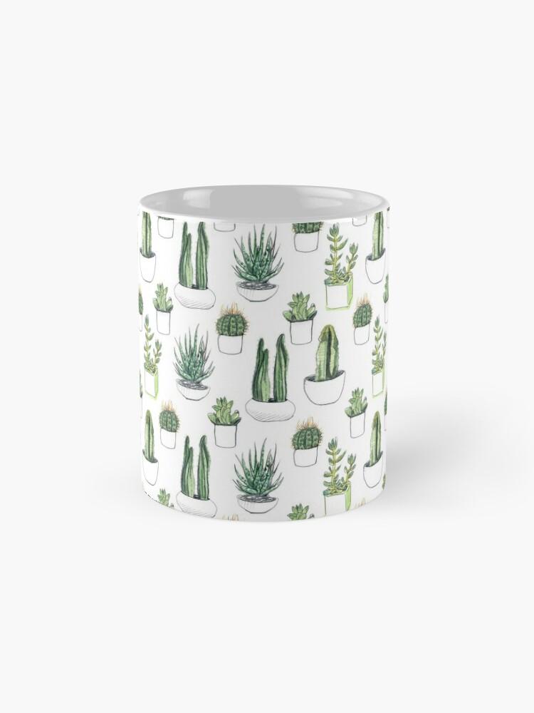 Alternate view of Watercolour cacti & succulents Mug