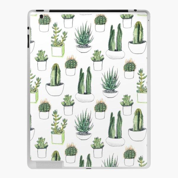 Watercolour cacti & succulents iPad Skin