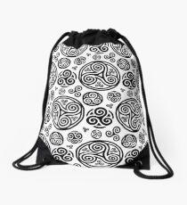 Breton triskels Drawstring Bag