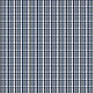 Dallas Sports Fan Silver Navy Blue Plaid Striped by Shelley Neff