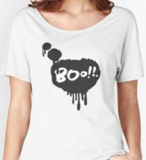 Boo in Flowing Speech Bubble Women's Relaxed Fit T-Shirt