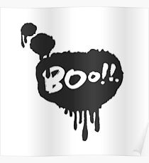 Boo in Flowing Speech Bubble Poster