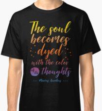 Marcus Aurelius Stoicism Quote - Color of thoughts Classic T-Shirt