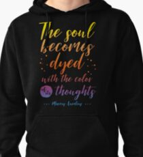 Marcus Aurelius Stoicism Quote - Color of thoughts Pullover Hoodie