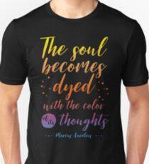 Marcus Aurelius Stoicism Quote - Color of thoughts Unisex T-Shirt