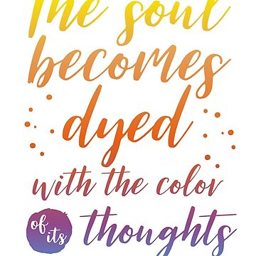 Marcus Aurelius Stoicism Quote - Color of thoughts by stylecomfy