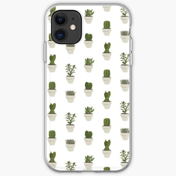 Cacti & Succulent – White iPhone Soft Case