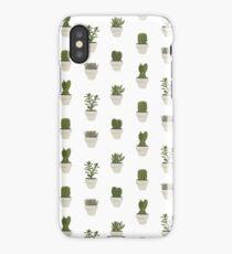 Cacti & Succulents (White) iPhone Case/Skin