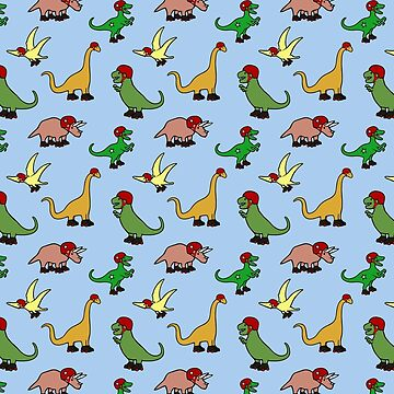 Roller Derby Dinosaurs Pattern by jezkemp