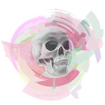 Skull Rosette by jocose-lines