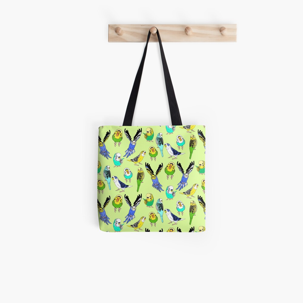 budgie doodle pattern Tote Bag