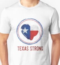 Texas Strong Texas Flag in Heart Unisex T-Shirt