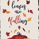 leaves are falling by Sybille Sterk